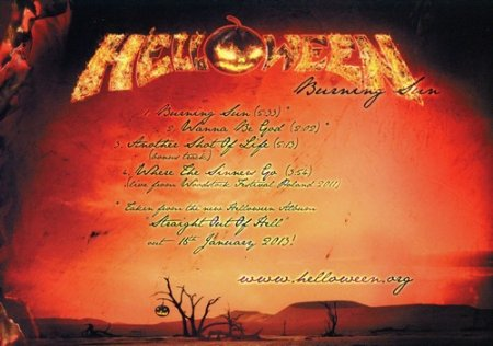 Helloween - Burning Sun 2012 (Single) (Only Japanese) (Lossless)
